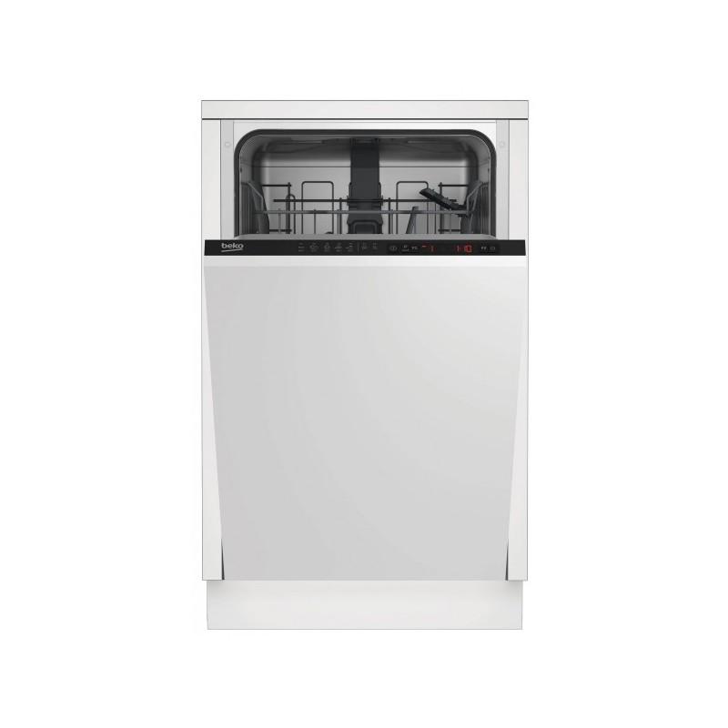 Masina de splalat vase incorporabila Beko DIS25010, 10 seturi, 5 programe, Clasa A+