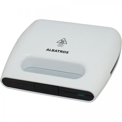 Sandwich maker Albatros SGA-750, 750W, Placi anti-aderente tip grill, Alb