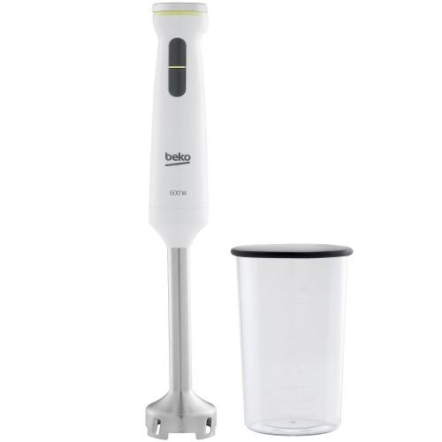 Mixer vertical Beko Foodster HBS7600W, 600W, pahar 1 L, functie Turbo, maner ergonomic, Alb