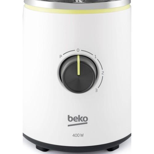 Blender Beko Foodster TBN7400W, 400W, capacitate 1.5 L, 3 viteze+Pulse, Alb