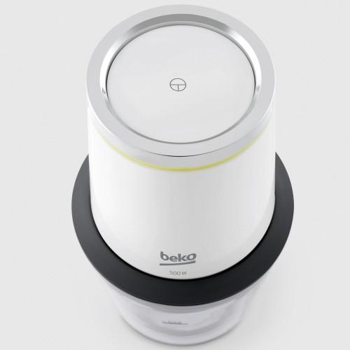 Minitocator Beko Foodster CHP7504W, 500W, 0,5 L, BPA Free, 4 cutite inox, touch control, Alb