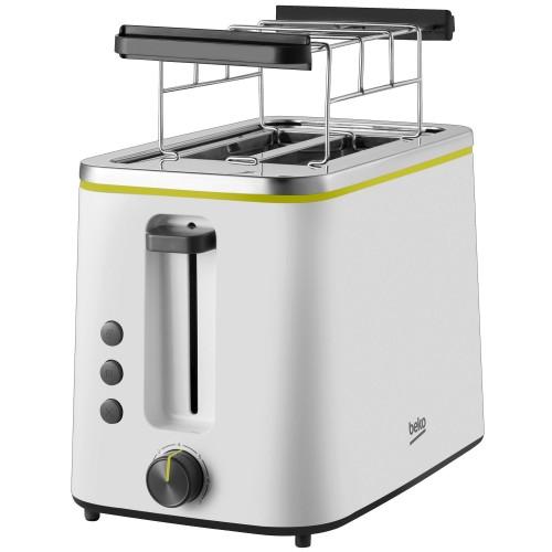 Prajitor de paine Beko Foodster TAM4321W, 800W, 3 functii, 7 trepte de prajire, Alb