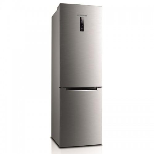 Combina frigorifica Albatros CNFX47A+, Full No Frost, 338 litri, Clasa A+, Display LCD, Inox