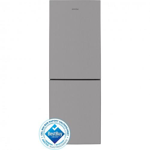 Combina frigorifica Arctic AK60360M30MT+ , 334 l, Clasa A , H 201 cm, Argintiu