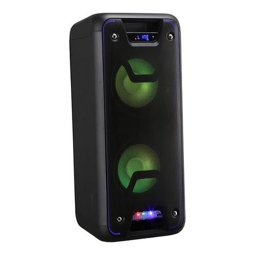 Boxa portabila cu microfon wireless, VORTEX VO2602, 60W, Bluetooth, USB, FM, negru