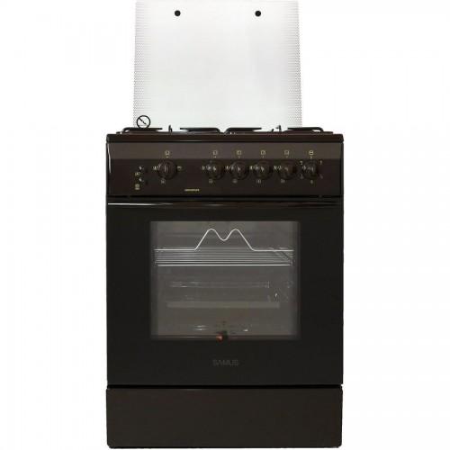 Aragaz Samus SM 650 MPGRS, 60 cm, Arzator WOK, Arprindere electrica, Siguranta plita + cuptor, Timer, Grill, Rotisor, Maro