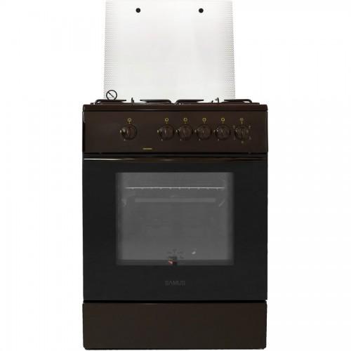 Aragaz Samus SM 650  MBS, 60 cm, Arzator WOK, Siguranta plita + cuptor, Geam dublu la cuptor, Timer, Alb