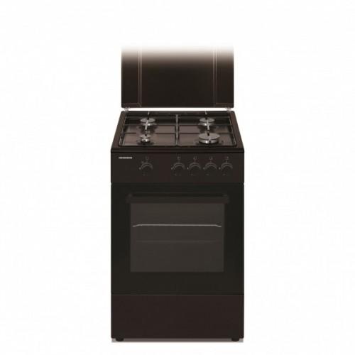 Aragaz Heinner HFSC-V50BRW, 4 Arzatoare, Gaz, Dispozitiv De Siguranta Plita Si Cuptor, 50 Cm, Maro