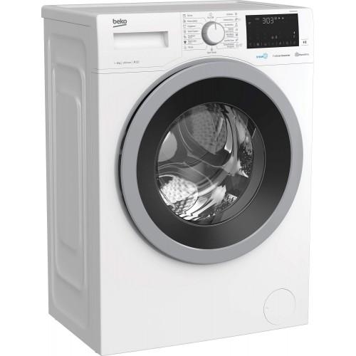 Masina de spalat rufe frontala BEKO WUE8633XST, HomeWhiz, 8kg, 1200rpm, Clasa A+++, alb