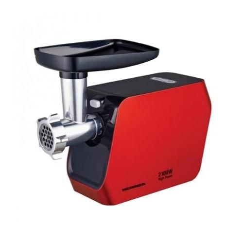 Masina de tocat Heinner MG-2100RD, 2100W, Accesoriu rosii, Accesoriu carnati, Cutit inox, Rosu