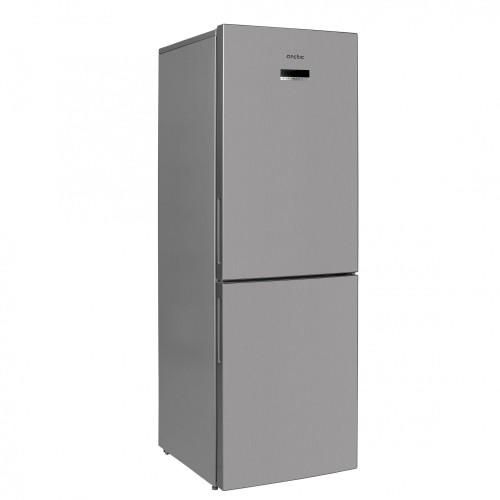 Combina frigorifica Arctic AK60355NFEMT+, 321 l, H 201, No Frost, Fast Freeze, Fresh Max 0°C, Display LCD, Clasa A+, Argintiu