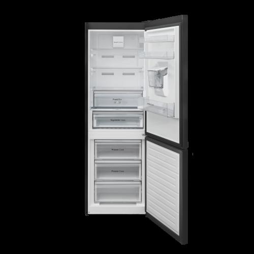 Combina frigorifica Daewoo RN-308RDQB, 330 l net, Clasa E, No Frost, Dispenser apa, H 187, Negru