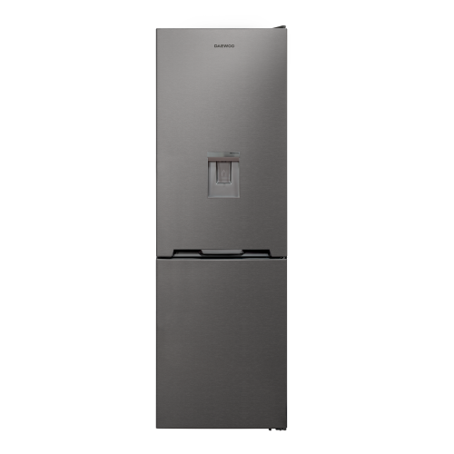 Combina frigorifica Daewoo RN-308RDQM, 330l l net, Clasa E, No Frost, Dispenser apa, H 187 cm, Inox