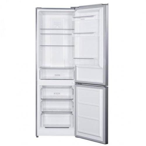 Combina frigorifica Albatros CNFX39F, Full No Frost, 286 L, Sertar legume, Iluminare LED, Inox/argintiu ( CNFX39A)