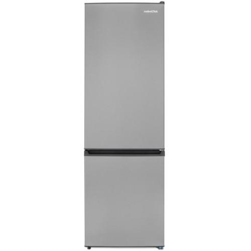 Combina frigorifica statica Nobeltek NCS-295X, 295 L, clasa F, decongelare automata, iluminare LED, usi reversibile, Inox
