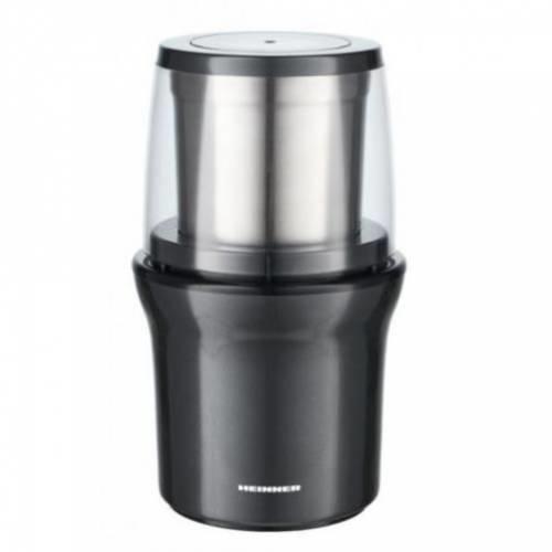 Rasnita cafea HEINNER HCG-200DGIX2, 70 grame, 200 W, Gri