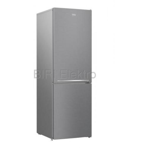 Combina frigorifica Beko RCSA366K40XBN, Clasa E, Capacitate 343 l, Iluminare LED, H 185.5 cm, Argintiu