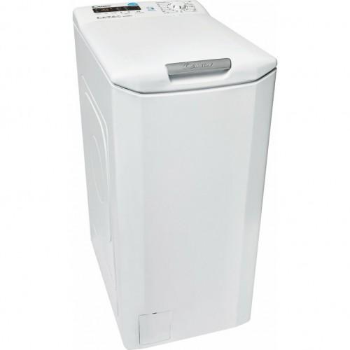 Masina de spalat rufe cu incarcare verticala Candy CST G384D-S, 8 kg, 1400 rpm, Clasa A+++, Display 2D, Functii Smart, NFC, Alb
